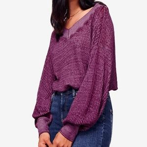 🦋2 for $25 Free People Sheer Waffle Knit Tee